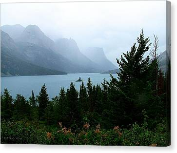 Wild Goose Island In The Rain Canvas Print