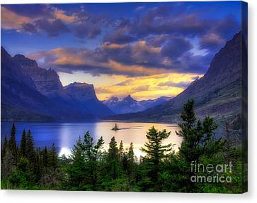 Cloud Reflections Canvas Print - Wild Goose Island by Mel Steinhauer