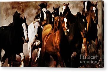 Wild Horses 01 Canvas Print