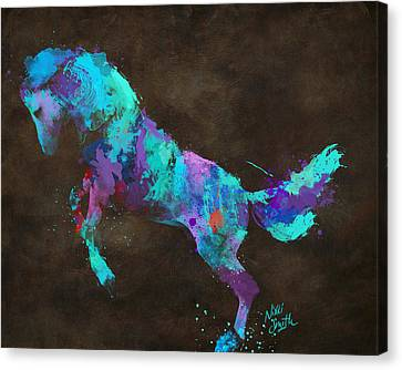Horse Lover Canvas Print - Wild Horses Couldn't Drag Me Away From You by Nikki Marie Smith