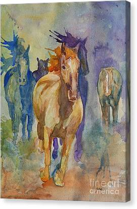 Wild Horses Canvas Print by Gretchen Bjornson
