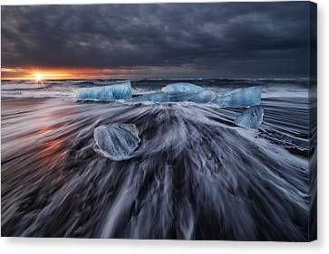 Wild Ice V Canvas Print by Juan Pablo De