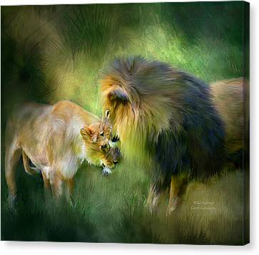 Lioness Canvas Print - Wild Instinct by Carol Cavalaris