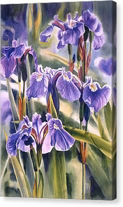 Blue Flowers Canvas Print - Wild Irises #1 by Sharon Freeman