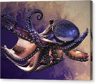 Wild Octopus Canvas Print by Artful Oasis