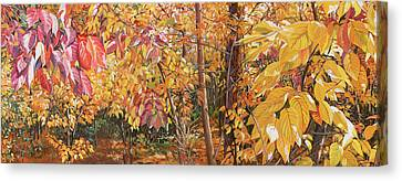 Canvas Print - Wild Persimmons Long by Nadi Spencer