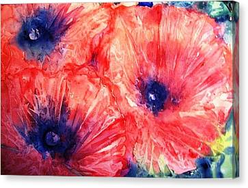 Canvas Print featuring the painting Wild Poppies by Trudi Doyle