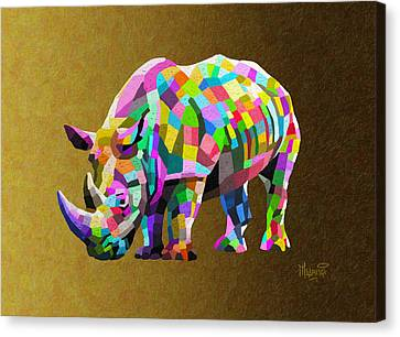 Wild Rainbow Canvas Print