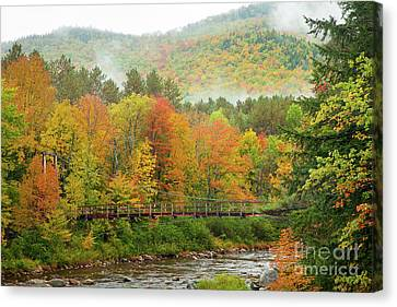 Canvas Print featuring the photograph Wild River Bridge by Susan Cole Kelly