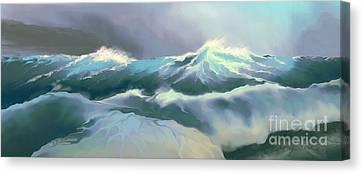 Wild Sea Canvas Print by Corey Ford