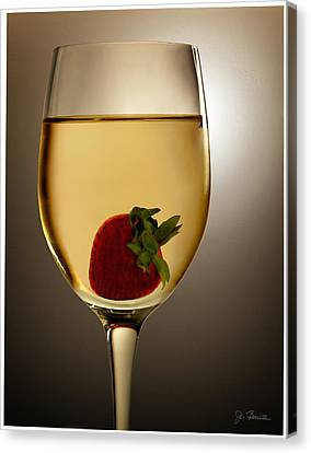 Canvas Print featuring the photograph Wild Strawberry by Joe Bonita