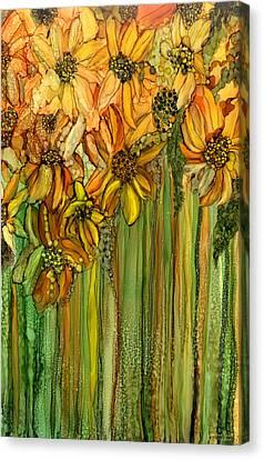 Summer Flowers Canvas Print - Wild Sunflower Garden by Carol Cavalaris