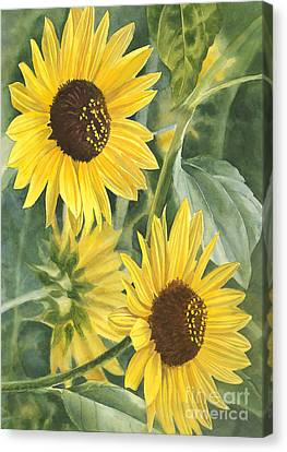 Wild Sunflowers Canvas Print by Sharon Freeman