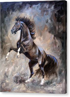 Wild Thing Canvas Print by Jeanne Newton Schoborg