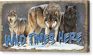 Canvas Print - Wild Times Here by Cynthie Fisher