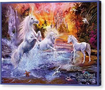 Wild Unicorns Canvas Print by Jan Patrik Krasny