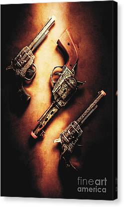 Metalic Canvas Print - Wild West Cap Guns by Jorgo Photography - Wall Art Gallery