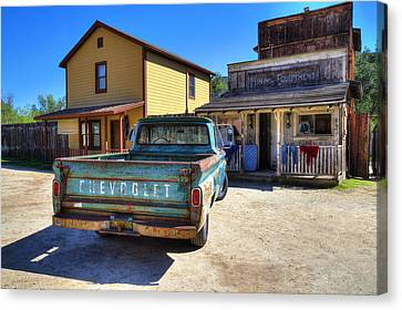 Turquoise And Rust Canvas Print - Wild West Chevrolet by Lynn Bauer