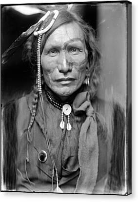 Wild West. Iron White Man, A Sioux Canvas Print by Everett