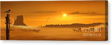 Wild West Panorama Canvas Print