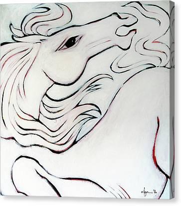 Wild White Canvas Print