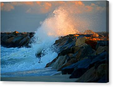 Wild Winter Morning - Cape Cod Bay Canvas Print by Dianne Cowen