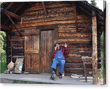 Log Cabins Canvas Print - Wilderness Cabin Alaska by Jennifer Crites
