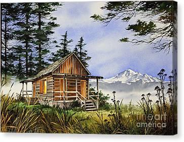 Wilderness Cabin Canvas Print by James Williamson