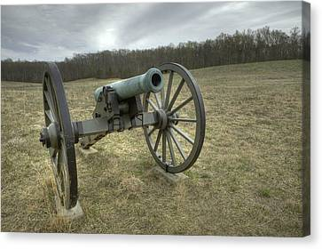 Wilderness Cannon Canvas Print by Harry H Hicklin
