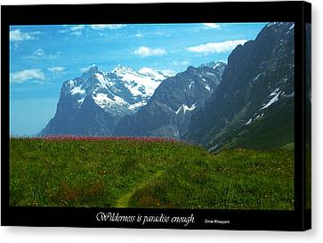 Omar Khayyam Canvas Print - Wilderness Is by Jessica T Peterson