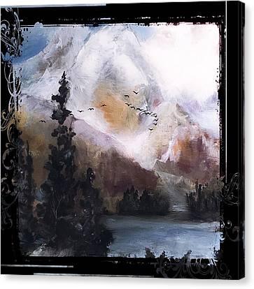 Wilderness Mountain Landscape Canvas Print