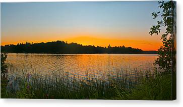 Wilderness Point Sunset Panorama Canvas Print