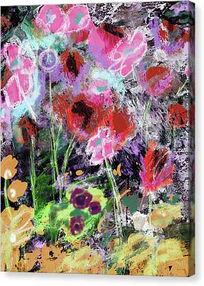 Abstract Expressionist Canvas Print - Wildest Flowers 2- Art By Linda Woods by Linda Woods