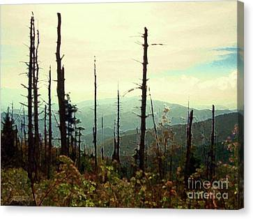 Canvas Print featuring the mixed media Wildfire by Desiree Paquette