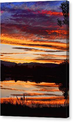 Wildfire Sunset 1v  Canvas Print by James BO  Insogna