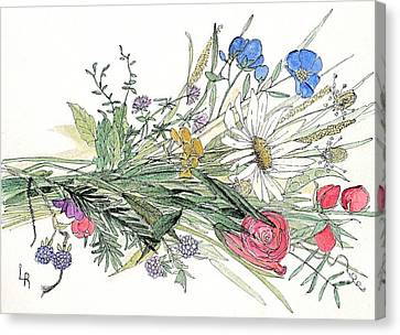 Wildflower Bouquet Canvas Print