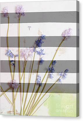 Wildflowers And Stripe Canvas Print by WALL ART and HOME DECOR
