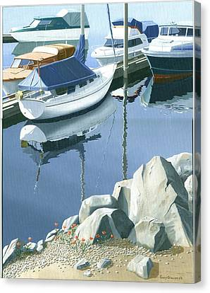 Wildflowers On The Breakwater Canvas Print