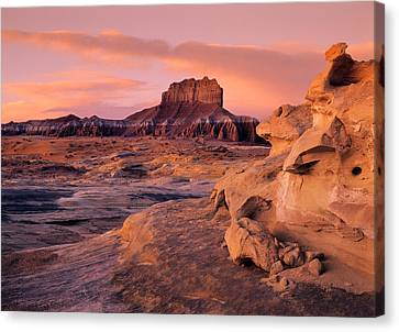Sunrise Canvas Print - Wildhorse Butte by Leland D Howard