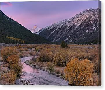 Sunrise Canvas Print - Wildhorse Creek Autumn Sunrise by Leland D Howard