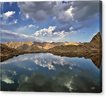 Wildhorse Lake Reflections Canvas Print by Leland D Howard