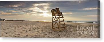 Wildwood Crest New Jersey Sunrise Canvas Print by Dustin K Ryan