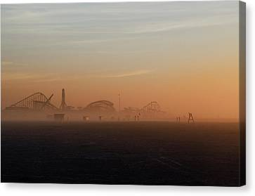 Wildwood New Jersey Just Before Dawn Canvas Print by Bill Cannon