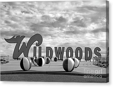 Wildwood New Jersey Welcome Sign Canvas Print by John Van Decker