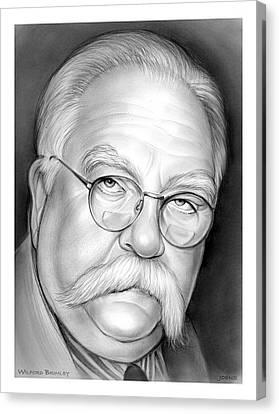 Wilford Brimley Canvas Print by Greg Joens