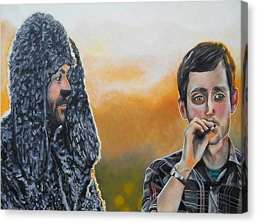 Wilfred And Ryan Canvas Print by Kevin J Cooper Artwork