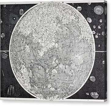 Astronomical Canvas Print - Wilhelm Wolff Beer And Johann Heinrich by Vintage Design Pics