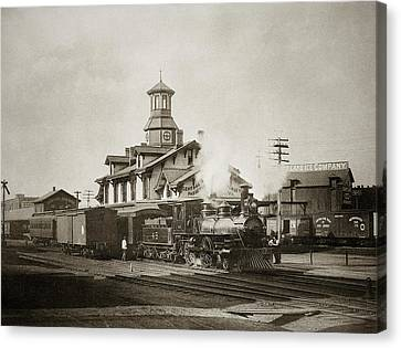 Wilkes Barre Pa. New Jersey Central Train Station Early 1900's Canvas Print