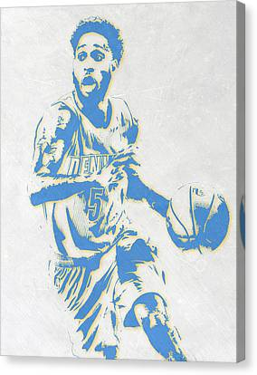 Will Barton Denver Nuggets Pixel Art Canvas Print