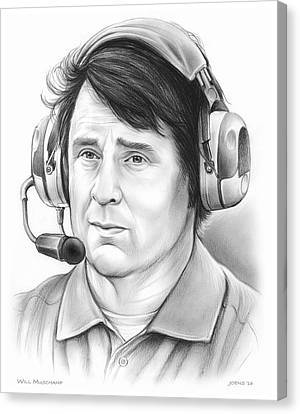 Will Muschamp Canvas Print by Greg Joens